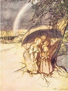 Rain, rain, go away, Come again another day; Little (Arthur) wants to play - Mother Goose: The Old Nursery Rhymes, 1913