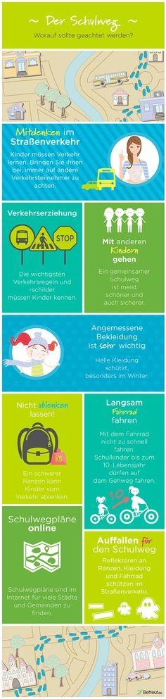 Der Schulweg - Einige Tipps, damit euer #Kind gut zur   #Schule kommt
