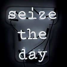 The Oliver Gal Artist Co. Oliver Gal 'Seize the Day' Plug-in Neon Lighted Sign, White