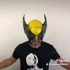 Insane Wolverine Helmet by ilustrastudios , Ms Marvel, Marvel Funny, Marvel Art, Wolverine Cosplay, Wolverine Art, Logan Wolverine, Comic Book Characters, Marvel Characters, Fantasy Characters