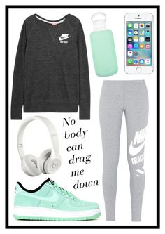 """""""#329 sporty"""" by xjet1998x ❤ liked on Polyvore featuring NIKE, bkr, Beats by Dr. Dre, women's clothing, women, female, woman, misses and juniors"""