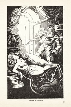 Chester Martin - illustration for Captives of the Weir-Wind by Ross Rocklynne, 1946