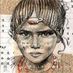 Stéphanie Ledoux - Carnets de voyage Collages, Collage Art, Travel Sketchbook, Art Sketchbook, Art Alevel, Afrique Art, L'art Du Portrait, Newspaper Art, Ledoux