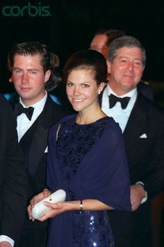 Eve of Infanta Cristina with Inaki Urdangarín's wedding.... Crown Princess Victoria of Sweden