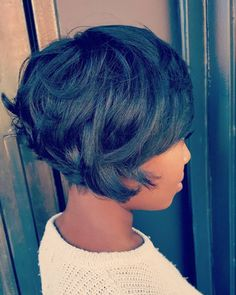 African American Short Messy Layered Bob Bob Hairstyles for black women 60 Great Short Hairstyles for Black Women Choppy Bob Hairstyles, Short Black Hairstyles, Afro Hairstyles, Short Hair Cuts, Bob Haircuts, Trendy Hairstyles, Hairstyles 2016, Short African American Hairstyles, Hairstyles Pictures