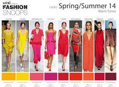 Spring/Summer 2014 Runway Color Trends Warm Tones [more at pinterest.com/eventsbygab]