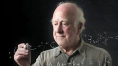 David Cameron congratulated Professor Peter Higgs who was jointly awarded the Nobel prize for physics.