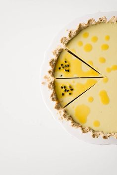 Vegan Passion Fruit Custard Tart