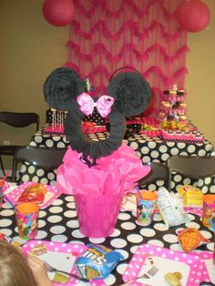 Minnie Mouse Polka dots Birthday Party Ideas | Photo 1 of 28