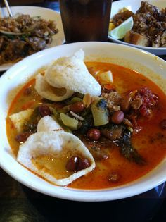 Lontong sayur / Indonesian rice cake and vegetable curry, sky cafe Philadelphia PA