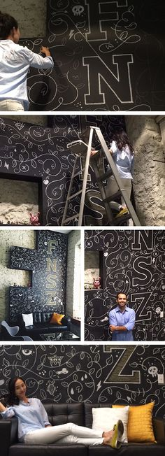 Chalk mural for Funsize co. - http://designyoutrust.com/2014/11/chalk-mural-for-funsize-co/