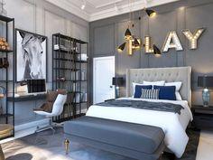 Luxury Kids Bedroom, Boys Bedroom Decor, Teen Bedroom, Modern Bedroom, Boy Bedroom Designs, Preteen Boys Bedroom, Modern Boys Rooms, Bedroom Ideas, Teen Boy Rooms