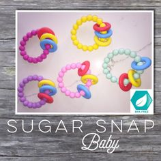 BPA Free Silicone Chew Ring Baby and Toddler by SugarSnapBabyShop