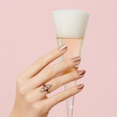 Rose gold champagne nails