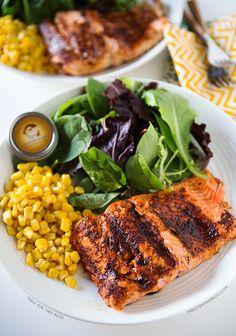 Grilled Coho Salmon   tablefortwoblog.com