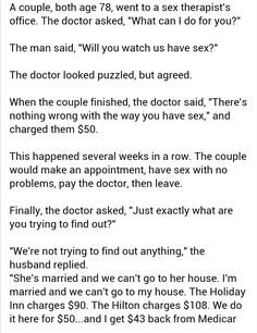 Funny adult jokes - Old clever couple
