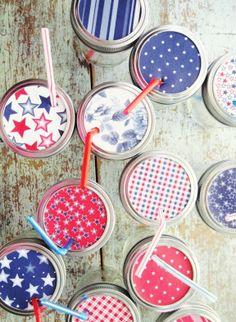DIY: 4th of July mason jars