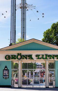 The amusement park Gröna Lund Stockholm Archipelago, Gothenburg, Next Door, Most Beautiful Cities, Stockholm Sweden, Amusement Parks, Lund, Rocky Mountains, Finland