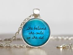 She believed she could so she did necklaces from Madame Butterfly JEWELLERY by DaWanda.com