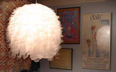Luminária pendente de papel arroz - faça você mesma