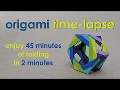 Origami Time-Lapse: Hex Wheel (Ira Fine) - YouTube