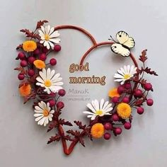 Flowers in My Heart III - Quilled Daisies, Dandelions and Berries - Quilling by… Paper Quilling Flowers, Quilling Paper Craft, Paper Crafts, Quilled Roses, Good Morning Picture, Morning Pictures, Morning Pics, Morning Images, Morning Sayings