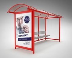 Mock-up - Bus Station Citylight