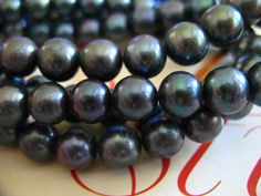 Shop Sale.. ROUND Black Pearl Freshwater Cultured by FabulousRocks, $21.00