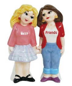 Look at this 'Best Friends' Salt & Pepper Shakers on #zulily today!