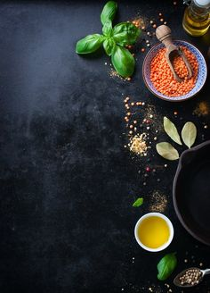 Top view of bowl with lentils and variety of condiments Free Photo Come and see food design Food Graphic Design, Food Menu Design, Food Poster Design, Restaurant Menu Design, Restaurant Identity, Restaurant Restaurant, Resturant Menu, Pizza Menu Design, Cafe Menu Design