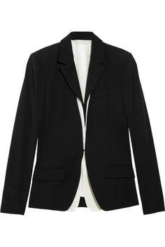 Reed Krakoff|Silk vest underlay wool blazer|NET-A-PORTER.COM