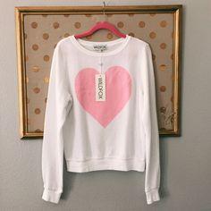 WILDFOX Heart Sweatshirt NWT WILDFOX heart sweatshirt                   SIZE SMALL Wildfox Sweaters Crew & Scoop Necks