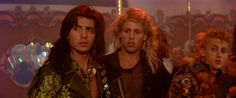 The Lost Boys (1987) - Billy Wirth as Dwayne, Brooke McCarter as Paul, and Alex Winter as Marko, directed by Joel Schumacher
