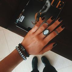Nails, jewelry, all of it! Cute Jewelry, Jewelry Accessories, Cheap Jewelry, Jewelry Ideas, The Bling Ring, Nail Ring, Heart Earrings, Fashion Necklace, Hair And Nails