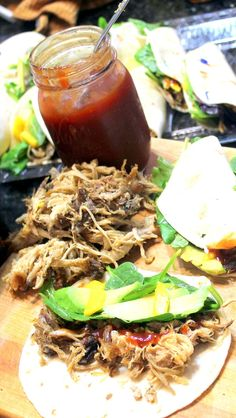The Puerto Rico Taco - Avocado and Mango Pulled Pork  Boy was this simple and Boy was ths good!  Love the Avocado... Love the sweet mango... Love the Pulled pork... Love the Taco! What's not to love.   While for the most part I make pulled pork just so I can eat a pulled pork sandwich; there are always leftovers. This is one of my favorite ideas for what to do with left over pulled pork.  There are plenty of pulled pork taco ideas, but I sure do like this one.  Sweet and spicy with tropical acce