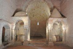 Interior de la iglesia de San Juan de Duero (siglo XII)
