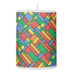 #simple - #Color blocks pillar candle