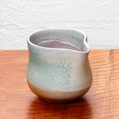 Wood fired Copper glazed pourer with internal atmospheric (pink flashing) reduction   Dianne Collins, Melbourne