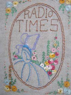Radio Times cover Love the sunbonnet. Is Crinoline Lady the English Sun Bonnet Sue? Radio Times cover Love the sunbonnet. Is Crinoline Lady the English Sun Bonnet Sue? Vintage Embroidery, Embroidery Applique, Embroidery Patterns, Sunbonnet Sue, Magazine Art, Textile Art, Needlework, Cross Stitch, Arts And Crafts