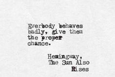 Hemingway, The Sun Also Rises