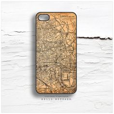 iPhone 5C Case London Map iPhone 5s Case Vintage von HelloNutcase