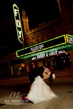 Classic Fox Theater moment! Mey and Joel!