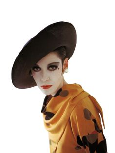 Peggy Moffitt in Rudi Gernreich Dress and Hat from the Van Dongen Collection, 1964