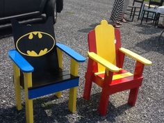Youth adirondack chairs. Can make them for any theme or character