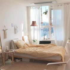 Room Inspo Minimalist Boho 38 You are in the right place about classy home decor ideas Here we o Small Bedroom Ideas For Couples, Small Bedroom Designs, Bedroom Minimalist, Stylish Bedroom, Aesthetic Bedroom, Small Rooms, My New Room, Home Fashion, Room Inspiration