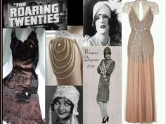 "THE 1920s FASHION                Beautiful coordinated outfits were a features of the roaring 20s ladies fashion. Hats,shoes,stocking,headbags,dresses and jewellery all came together in perfect harmony thus creating a new unique and elegant style .this era is all about colours , luxurious lifestyle . This era was called the era of ""flapper"".the 1920s dresses were lighter and brighter and shorter than ever before. There were different coloured,textures and patterns in dresses and evening…"