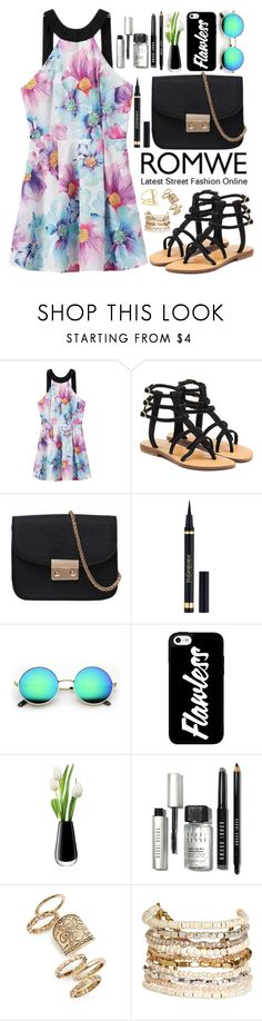 """Romwe"" by oshint ❤ liked on Polyvore featuring Mystique, Yves Saint Laurent, LSA International, Bobbi Brown Cosmetics, Topshop, Panacea, Sydney Evan, awesome, amazing and beautiful"