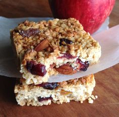 Apricot and Craisen Muesli Bar