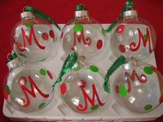 Personalized Christmas Ornaments  DIY by PolkaDottedSunflower