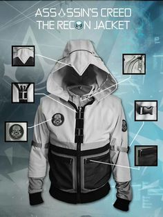 Enter a new reality with the Assassin's Creed - The Recon jacket from UbiWorkshop Assassins Creed Outfit, Assains Creed, Assassin's Creed Hidden Blade, Moda Geek, Jamel, Cool Jackets, Swagg, Cool Outfits, Guy Outfits